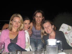 Amanda with best school friends Penny Mockford, Chantel Kriel & Carmen Robinson at a get-together in Cape Town last year. It was her friendships like this that inspired SAReunited.