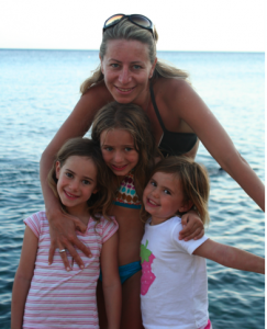 Amanda with her three gorgeous daughters in Greece, Summer of 2009