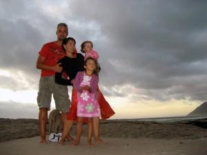 Steve and family in Noordhoek
