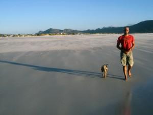 Steve Villiers on Noordhoek beach.