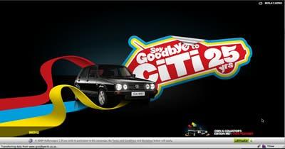 Say Goodbye to Citi Golf - http://www.goodbyeciti.co.za