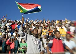 South African football fans.  (Image: Chris Kirchoff)