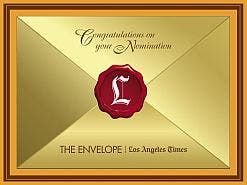 All Oscar nominees will receive a  delectable South African chocolate bar wrapped in this golden envelope.