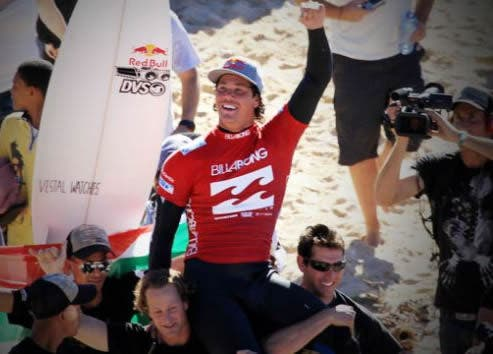 Jordy Smith in Jeffreys Bay. Credit: http://www.aspworldtour.com