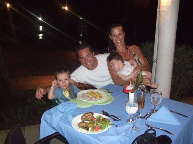 Lisa Roberts and family