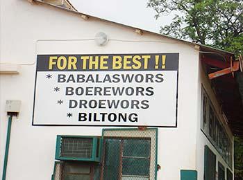 Babalaswords, boerewors and biltong