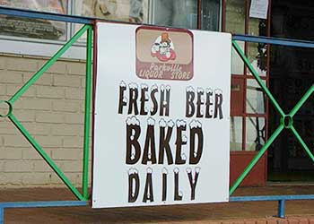Fresh beer baked daily