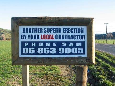 Another super erection by your local contractor