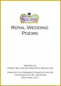 Royal Wedding Poems (Front cover with border)
