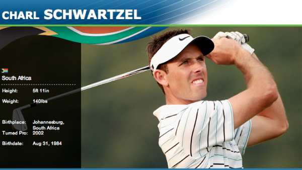 Charl Schwartzel as featured on the PGA Tour website