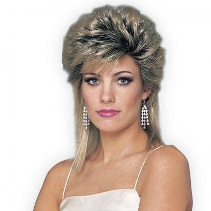 """80's Hairstyle - Hair sprayed into a """"coma""""..........."""