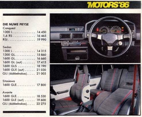 Car prices in the 1980s