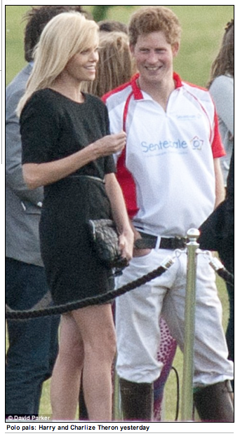 Charlize Theron and Prince Harry at polo
