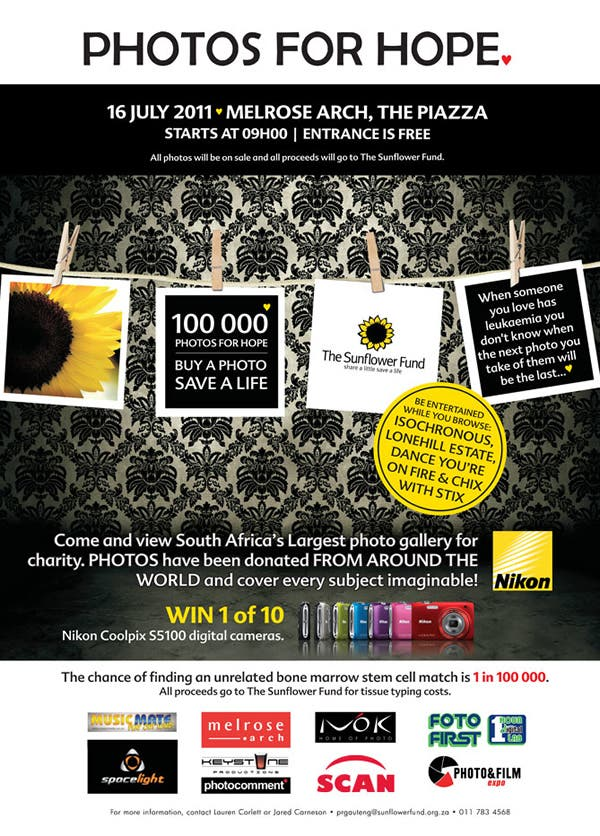 Take part in 100,000 Photos for Hope