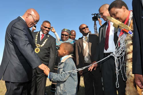 The South African President in Makana