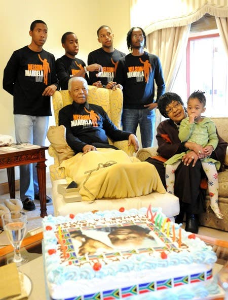 Nelson Mandela's Birthday Photo with Winnie Mandela next to him