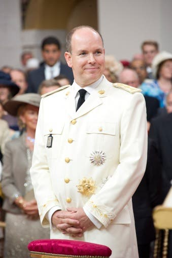 Prince Albert II of Monaco in his wedding 'uniform'