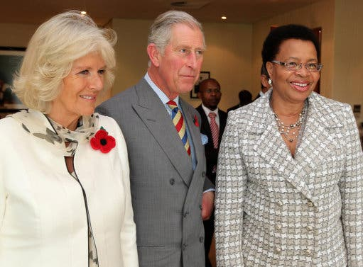 Prince Charles and Camilla with Nelson Mandela's wife