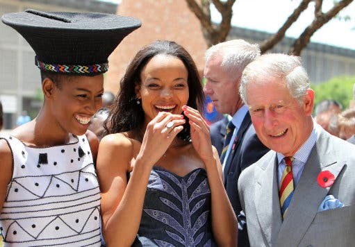 Prince Charles in Soweto South Africa