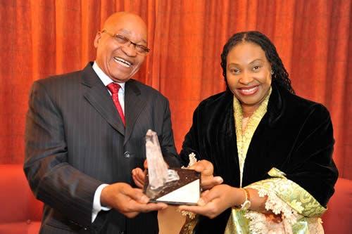 President Zuma with Chaka Chaka