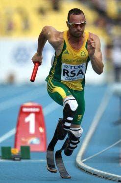 South African Paralympic sprint runner Oscar Pistorius