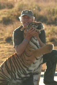 John Varty and Tiger