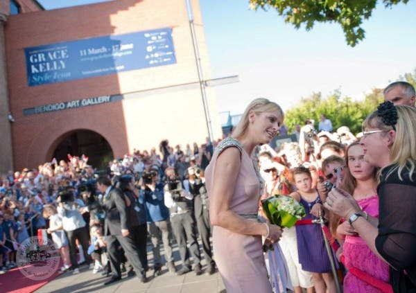 Princess Charlene arrives at Bendigo Art Gallery, Australia
