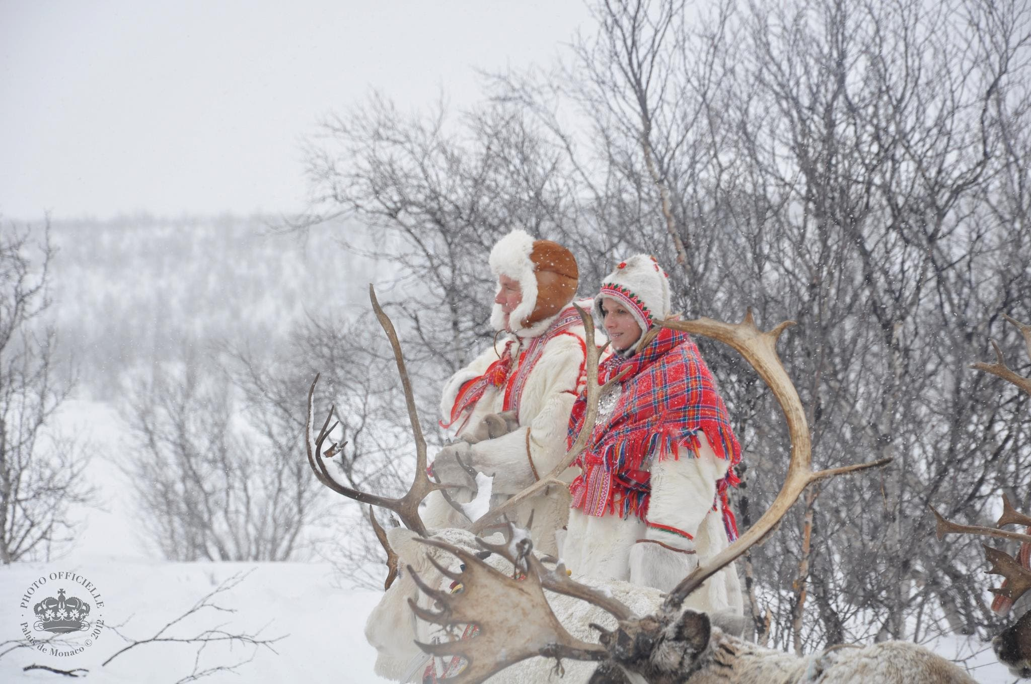 Princess Charlene and Prince Albert II in Lapland