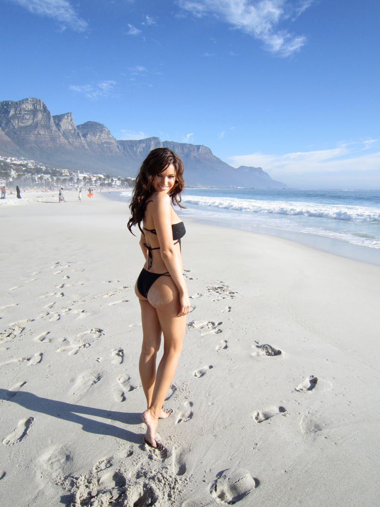 Kelly Brook on the beach in Cape Town