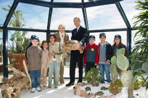 Princess Charlene opens Turtle Island