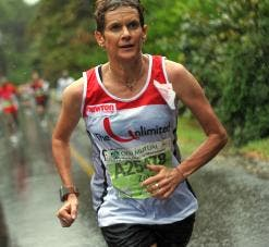 Running in tough conditions, Budd-Pieterse completed her longest race distance so far, the Two Oceans Marathon.