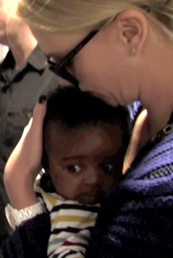 Charlize Theron and baby Jackson pic