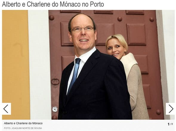 Princess Charlene and Prince Albert in Portugal