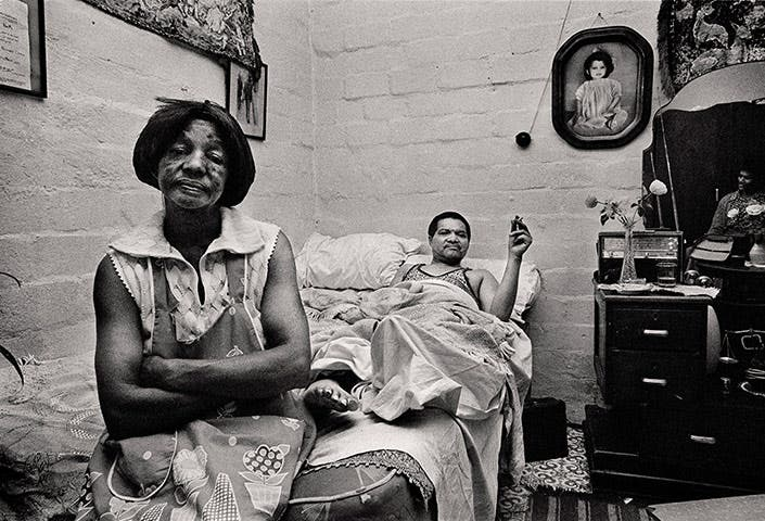Stroke victim and his wife, Manenberg, near Cape Town, 1976