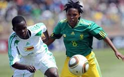 Banyana: the women's football team has qualified for the first time ever. (Image: Mediaclubsa.com)