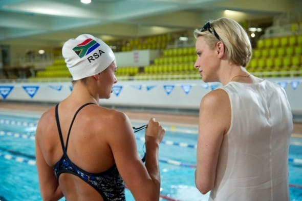 Princess Charlene Supported South African Swimmers all the way