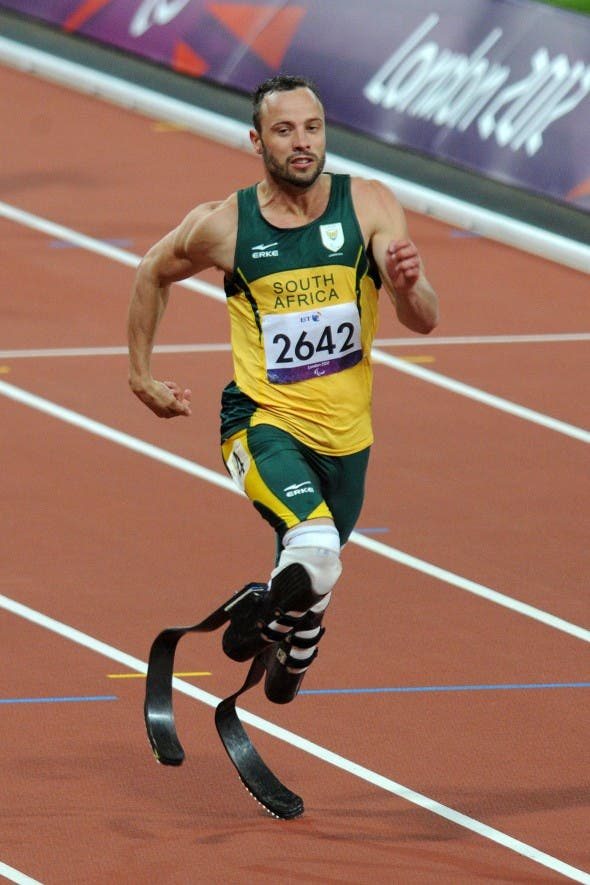 South African sports hero Oscar Pistorius
