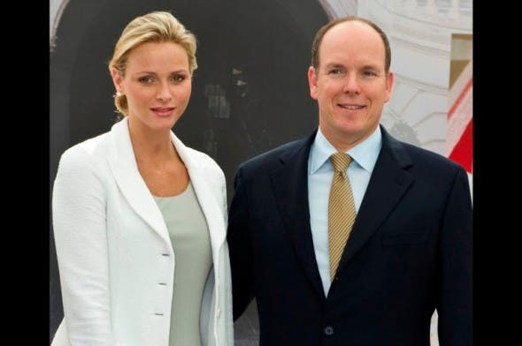 South Africa's Princess Charlene in London with Prince Albert