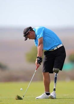 Amputee golfer Daniël Slabbert is the current Nedbank SA disabled golf champion, a title he first won in 2011. (Image: Nedbank)
