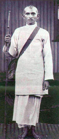 Gandhi as a young activist.