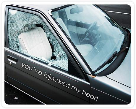 you've hijacked my heart
