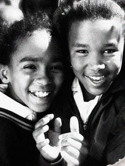 Kids from the Narsing Primary School in the township outside Graaff Reinet in the Eastern Cape.  (Image: Obami)