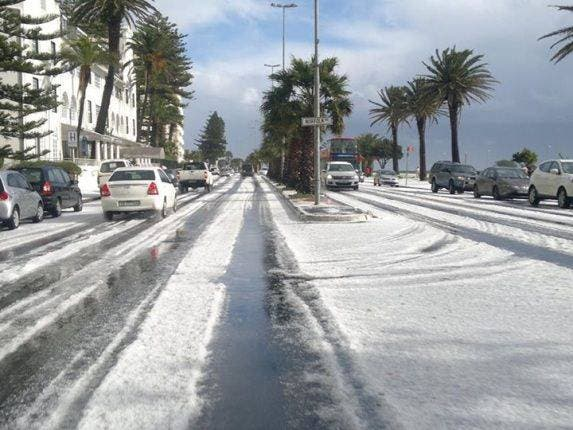 Hail in Cape Town