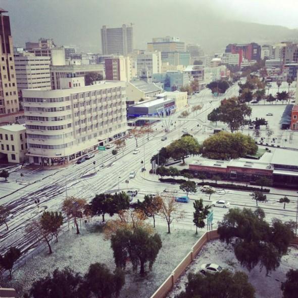 Hail in Cape Town