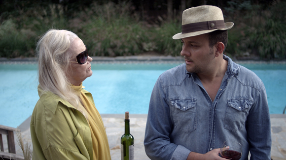 Stelio Savante and Oscar Nominee Sally Kirkland in photo still from upcoming film THE AWAKENED. Photo credit: Danny Buonsanto