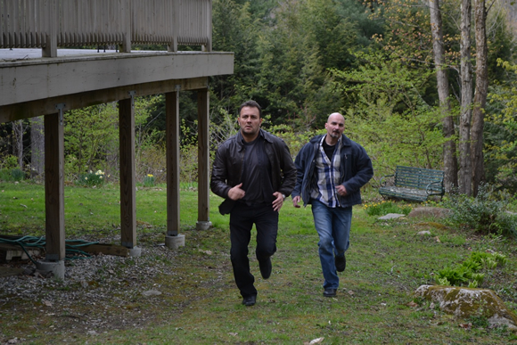 Stelio Savante and Kef Lee star in the upcoming film THE SECRET VILLAGE. Photo credit: John Kickery