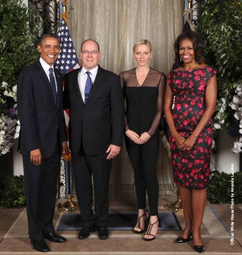 The Monaco royal couple and American President and First Lady