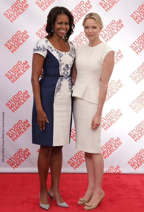 Princess of Monaco and First Lady of America together at a luncheon