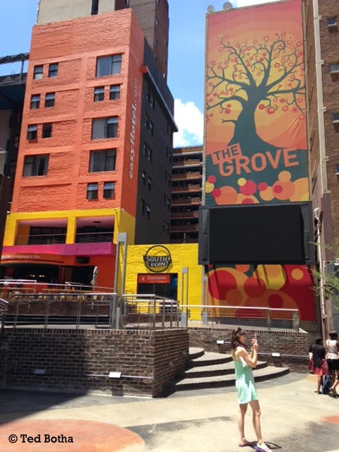 Piazza - wall art and lively billboards abound Jozi-wide