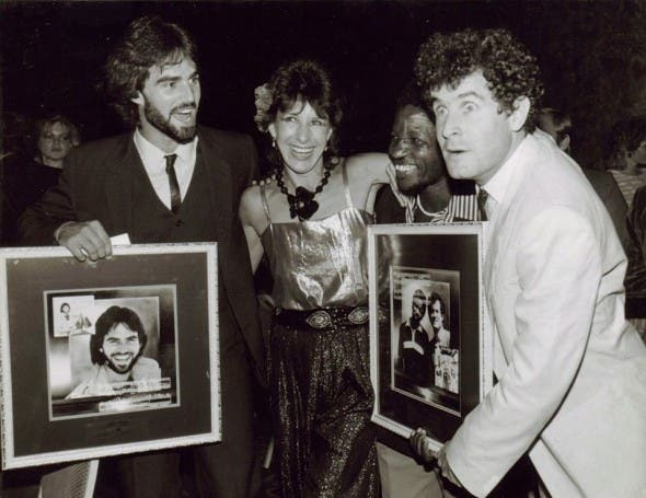Pierre with Dawn Lindbergh and Johnny Clegg in the '80s